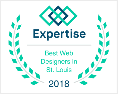 Expertise Best St. Louis Web Design 2018 badge